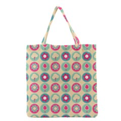 Chic Floral Pattern Grocery Tote Bags