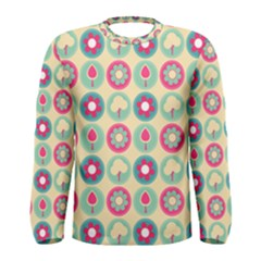 Chic Floral Pattern Men s Long Sleeve T-shirts