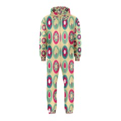Chic Floral Pattern Hooded Jumpsuit (Kids)