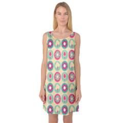 Chic Floral Pattern Sleeveless Satin Nightdresses