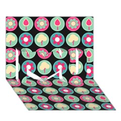 Chic Floral Pattern I Love You 3D Greeting Card (7x5)