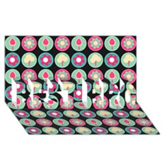 Chic Floral Pattern BEST BRO 3D Greeting Card (8x4)