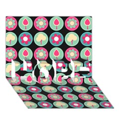 Chic Floral Pattern HOPE 3D Greeting Card (7x5)