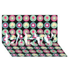 Chic Floral Pattern PARTY 3D Greeting Card (8x4)