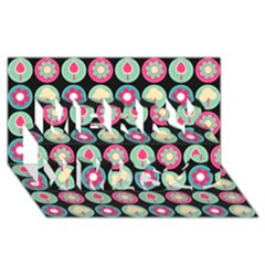 Chic Floral Pattern Merry Xmas 3D Greeting Card (8x4)