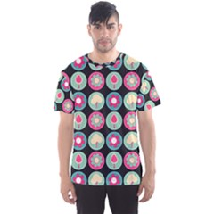 Chic Floral Pattern Men s Sport Mesh Tees