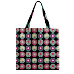 Chic Floral Pattern Zipper Grocery Tote Bags