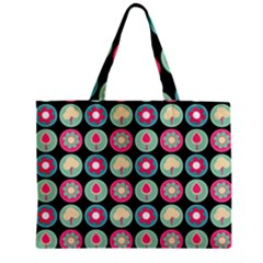 Chic Floral Pattern Zipper Tiny Tote Bags