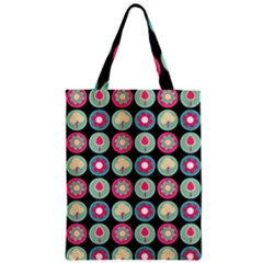 Chic Floral Pattern Zipper Classic Tote Bags
