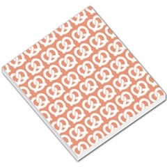 Salmon Pretzel Illustrations Pattern Small Memo Pads