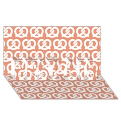 Salmon Pretzel Illustrations Pattern BEST SIS 3D Greeting Card (8x4)