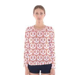 Salmon Pretzel Illustrations Pattern Women s Long Sleeve T-shirts