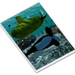Submarine With Orca Large Memo Pads