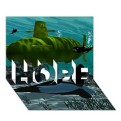 Submarine With Orca Hope 3d Greeting Card (7x5)