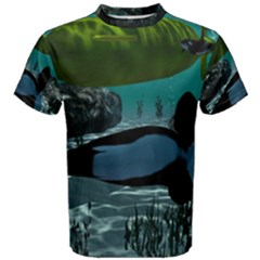 Submarine With Orca Men s Cotton Tees