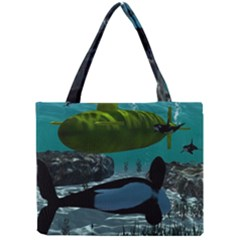 Submarine With Orca Tiny Tote Bags
