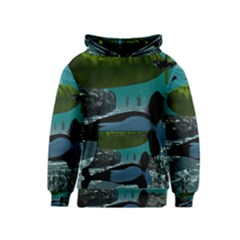Submarine With Orca Kid s Pullover Hoodies