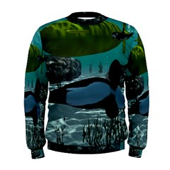 Submarine With Orca Men s Sweatshirts