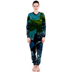Submarine With Orca Onepiece Jumpsuit (ladies)