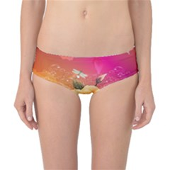 Beautiful Roses With Dragonflies Classic Bikini Bottoms
