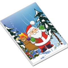 Funny Santa Claus In The Forrest Large Memo Pads