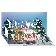 Funny Santa Claus In The Forrest Best Friends 3d Greeting Card (8x4)