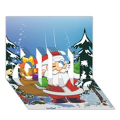 Funny Santa Claus In The Forrest GIRL 3D Greeting Card (7x5)