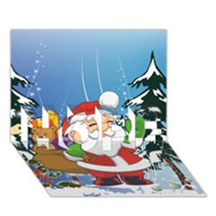 Funny Santa Claus In The Forrest HOPE 3D Greeting Card (7x5)