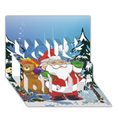 Funny Santa Claus In The Forrest You Did It 3D Greeting Card (7x5)