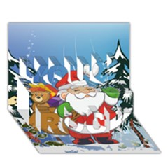 Funny Santa Claus In The Forrest You Rock 3d Greeting Card (7x5)