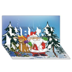 Funny Santa Claus In The Forrest Merry Xmas 3d Greeting Card (8x4)