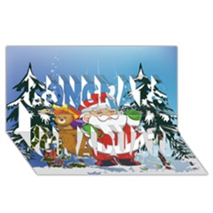 Funny Santa Claus In The Forrest Congrats Graduate 3D Greeting Card (8x4)
