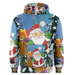 Funny Santa Claus In The Forrest Men s Pullover Hoodies