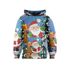 Funny Santa Claus In The Forrest Kid s Pullover Hoodies