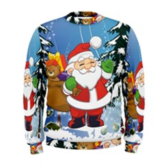 Funny Santa Claus In The Forrest Men s Sweatshirts
