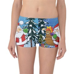 Funny Santa Claus In The Forrest Reversible Boyleg Bikini Bottoms