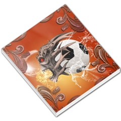 Soccer With Skull And Fire And Water Splash Small Memo Pads