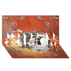 Soccer With Skull And Fire And Water Splash #1 MOM 3D Greeting Cards (8x4)