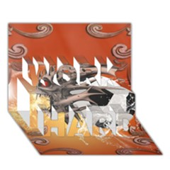 Soccer With Skull And Fire And Water Splash WORK HARD 3D Greeting Card (7x5)