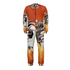 Soccer With Skull And Fire And Water Splash OnePiece Jumpsuit (Kids)