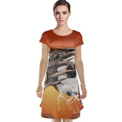Soccer With Skull And Fire And Water Splash Cap Sleeve Nightdresses