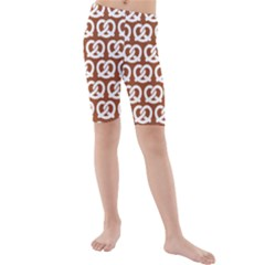 Brown Pretzel Illustrations Pattern Kid s swimwear