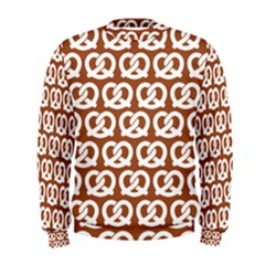 Brown Pretzel Illustrations Pattern Men s Sweatshirts