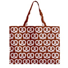 Brown Pretzel Illustrations Pattern Zipper Tiny Tote Bags