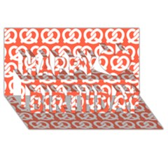 Coral Pretzel Illustrations Pattern Happy Birthday 3d Greeting Card (8x4)