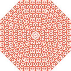 Coral Pretzel Illustrations Pattern Golf Umbrellas
