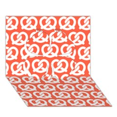 Coral Pretzel Illustrations Pattern Clover 3D Greeting Card (7x5)