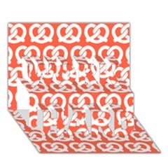 Coral Pretzel Illustrations Pattern Work Hard 3d Greeting Card (7x5)