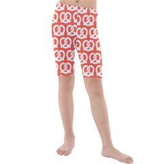 Coral Pretzel Illustrations Pattern Kid s swimwear