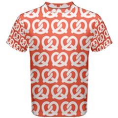 Coral Pretzel Illustrations Pattern Men s Cotton Tees